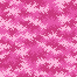 canvas print picture - Camouflage pixel pattern in Pink seamlessly tileable