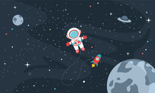 Vector Illustration Of Space B...