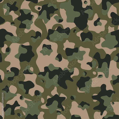 Camouflage pattern background, seamless vector illustration