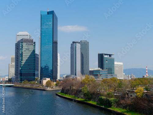 Staande foto Rotterdam OBP 大阪ビジネスパークの空