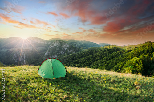 Tent in the nature