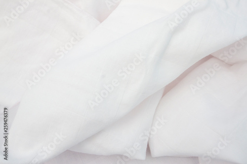 Fotografie, Obraz  White Cloth diaper of babies that is soft and gentle on baby skin, for background and textures