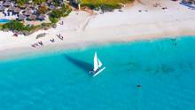 White Sailboat In A Sea  Zanzi...
