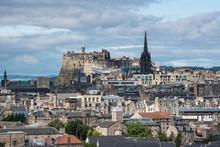 View Over City Of Edinburgh, With Edinburgh Castle, Edinburgh, Scotland, United Kingdom, Europe