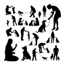 Dog Trainer Silhouettes. Good ...