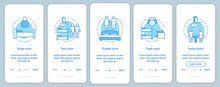 Room Types Onboarding Mobile App Page Screen Vector Template