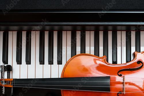 violin and piano. classical music. Fototapet