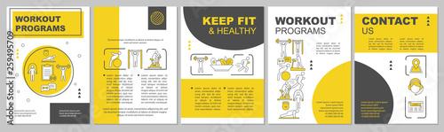Fotografía  Workout program brochure template layout