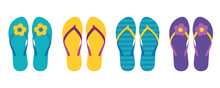 Set Of Colorful Flip Flops Sum...