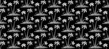White Hand Drawn Vector Palm T...
