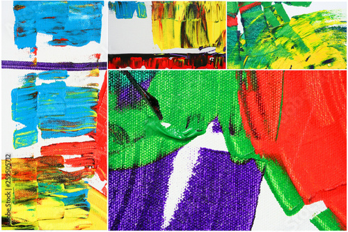 Canvas Prints Graffiti collage abstract artwork as background