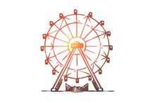 Attraction, Ferris, Wheel, Amu...