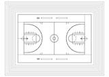 Fototapeta Sport - Basketball court