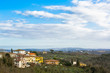 View from San Casciano. Italian region Tuscany, southwest of Florence. Val di Pesa, highly renowned for the production of wine and olive oil.