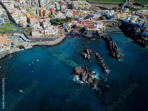 Cadres-photo bureau Cote Teneriffa aus der Luft