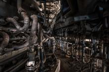 Furnace Catwalk In An Abandoned Steel Factory