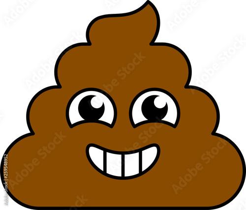 Smiley, excited shit emoji vector illustration