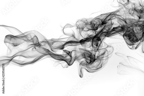 Garden Poster Smoke abstract black smoke on white background