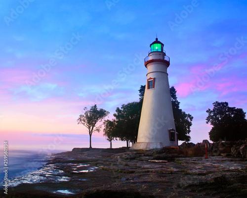 Autocollant pour porte Phare The Marblehead Lighthouse