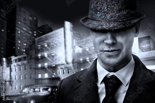Fotografie, Obraz  vintage italian mafia gangster in 1930s