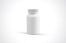 Medicine White Pill Bottle Iso...