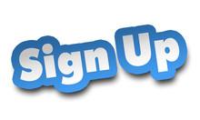 Sign Up Concept 3d Illustratio...