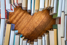 Heart Shape From Books. Love R...