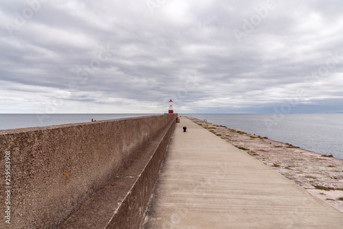 Fotografia  The Lighthouse in Berwick-upon-Tweed, Northumberland, England, UK - seen from th