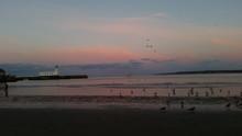 Scarborough Lighthouse Summer Sunset