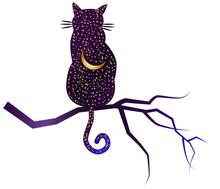 Cat-night. Cat Silhouettes Pai...