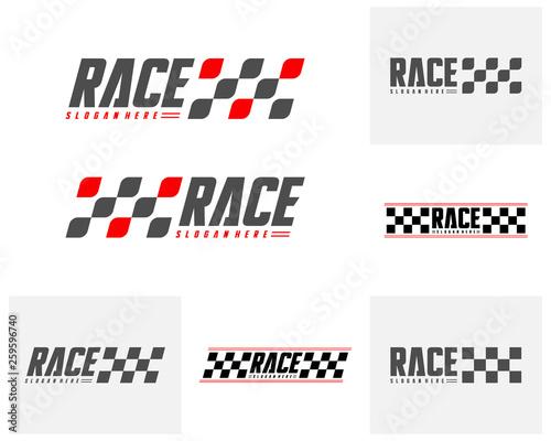 Set of Race flag Design Concepts Icon Fototapete
