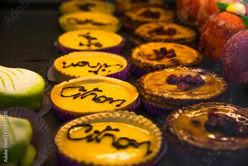 Photo  tarte au citro