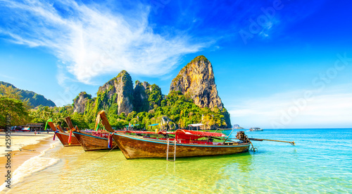 Railay West Beach in Thailand Canvas-taulu