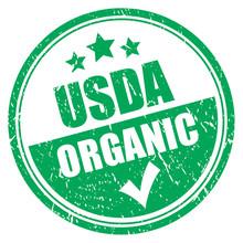 Usda Organic Grunge Stamp