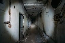 Dark Creepy Corridor In Abando...