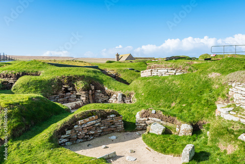 Fotografie, Tablou  Scara Brae Neolithic Site - Orkney Islands, Scotland