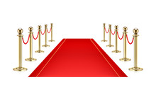 Red Carpet And Golden Barrier ...