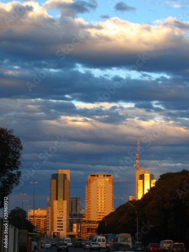 Photo  National congress in the Capital of Brazil photographed in the city of Brasilia