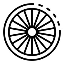 Cycling Bike Wheel Icon. Outline Cycling Bike Wheel Vector Icon For Web Design Isolated On White Background
