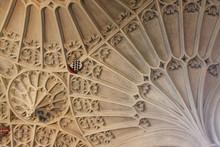 Beautiful Vaulted Ceiling Of Bath Abbey, Bath, Somerset, England UK
