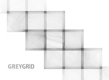 Abstract Template With Transparent Grey Fractal Grid On A White Background