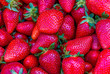 canvas print picture - Strawberries background. Strawberry. Food background. strawberry background
