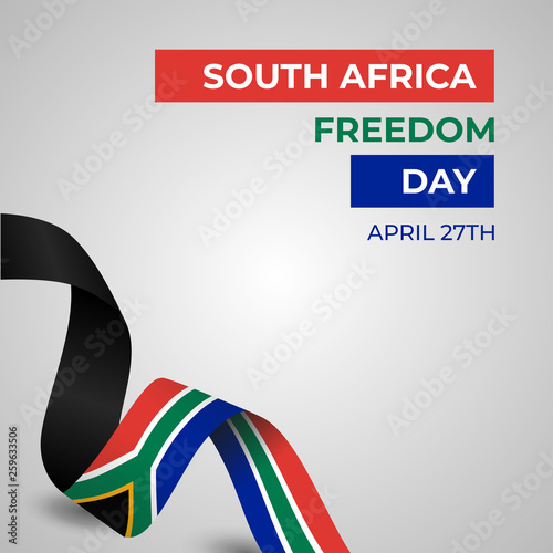 Tela  Happy Republic of South Africa Freedom Day Vector Template Design Illustration