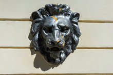 Lion Head Statue On The Wall