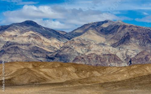 Autocollant pour porte Orange eclat Eastern Death Valley Landscape