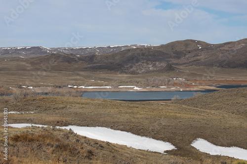 Foto op Aluminium Arctica wyoming mountain landscape with lake