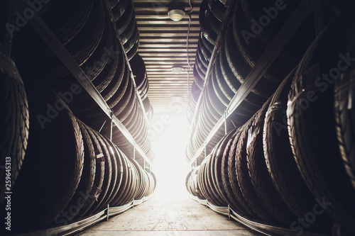 Fototapeta Sports and Transportation Tire rubber products , Group of new tires for sale at a tire store