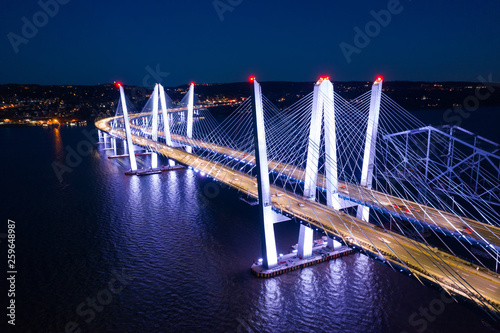 Aerial view of the New Tappan Zee Bridge - 259648987