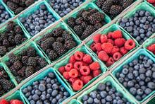 Fresh Berries In The Market
