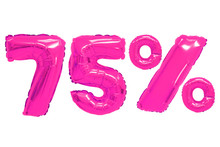 Seventy Five Percent From Balloons Pink Color